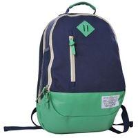 Plecak młodzieżowy Canvas zielono-niebieski