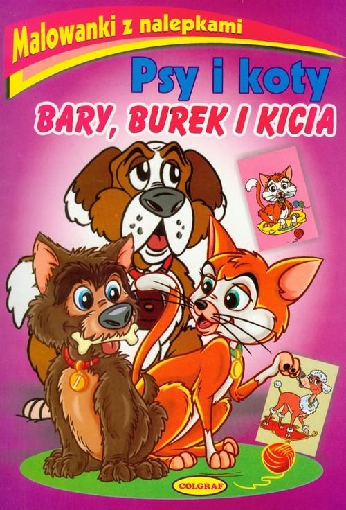 Malowanki z nalepkami Psy i koty