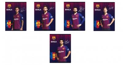 Zeszyt MO A5/32K trzy linie kolor FC Barca (10szt)