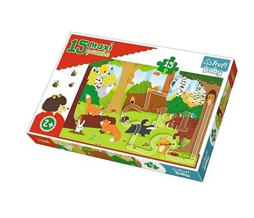 Puzzle Maxi Zwierzęta w lesie 15 (14276)