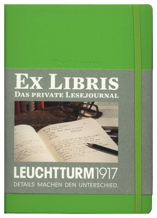 Dziennik czytelniczy Leuchtturm1917 Ex libris limonkowy