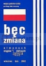 Bęc Zmiana. lampowy almanach z flagą biało-czerwoną i trzema paskami na okładce PRACA ZBIOROWA