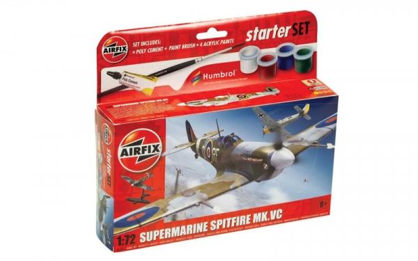 Model do sklejania Small Beginners Set Spitfire MkVc (55001)