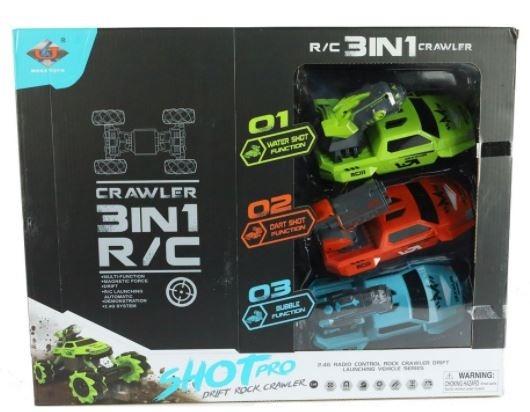 Auto R/C z 3 karoseriami 4WD z ładowarką (004052)