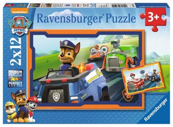 Puzzle 2x12 elementów - Psi Patrol, W akcji (PR-075911)