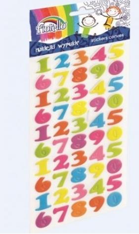 Naklejki wypukłe Fiorello GR-NP140 cyfry
