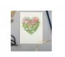 Karnet A092 B6 + koperta Serce z kwiatami