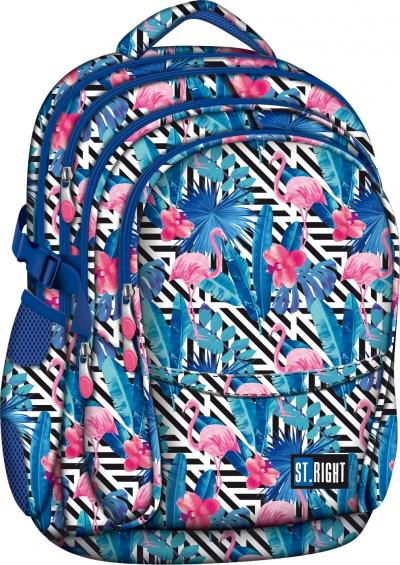 Plecak szkolny Stright Flamingo pink&blue BP-01