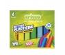 Plastelina brokatowa 6 kolorów CRICCO (CR372K6)