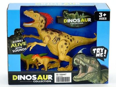 Figurka Adar dinozaur z dźwiękiem + 2 małe dino (525764)