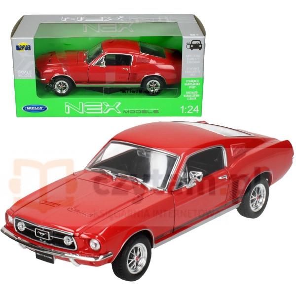 WELLY Ford Mustang GT, czerwony (WE22522)