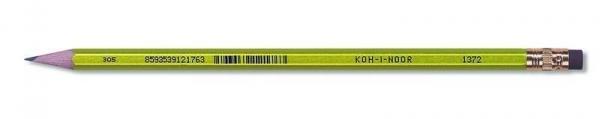 Ołówek grafitowy 1872 z gumką oriental mix (12szt)