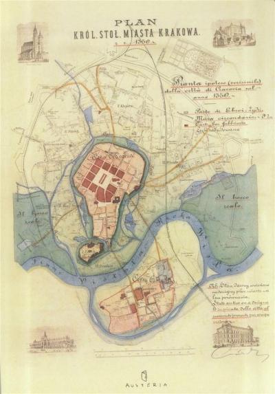 Notes - plan miasta Krakowa