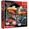 Puzzle 4w1: Auta 3 - Gotowi do wyścigu (34276)Wiek: 4+