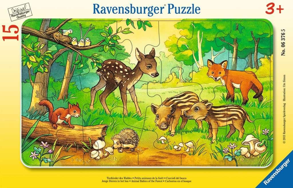 Puzzle ramkowe 15: Zwierzęta z lasu (6376)