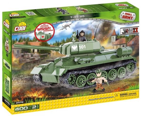 Cobi: Small Army WWII. T34/85 M 1944 - 2476 (Uszkodzone opakowanie)