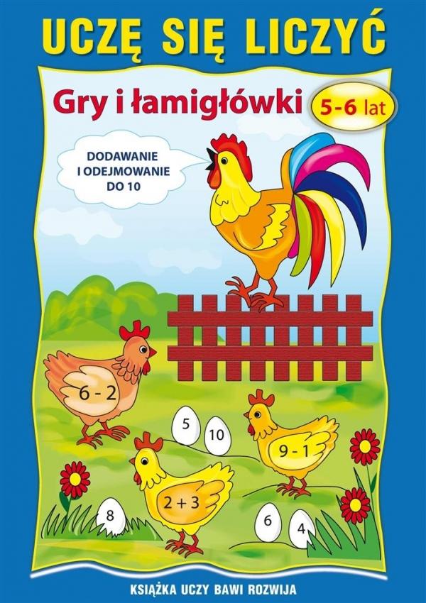 Uczę się liczyć Gry i łamigłówki 5-6 lat Guzowska Beata, Kojtka Katarzyna