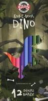 Kredki Dino 12 kolorów