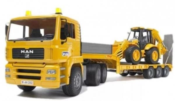 Pojazd MAN TGA z naczepą i koparko-ładowarką JCB (BR-02776)
