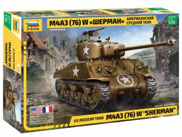 Model plastikowy Czołg M4A3 76mm Sherman 1/35 (3676)