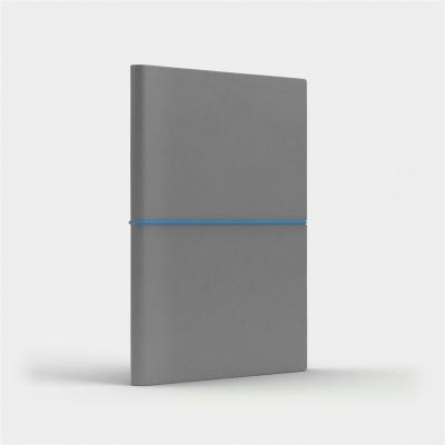 Notatnik A5 Fun M kropki jasnoszary/niebieski