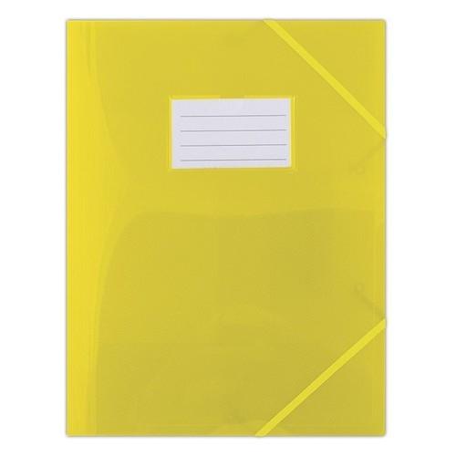 Teczka z gumką Donau PP A4 półtransparentna żółta (8568001PL-11)