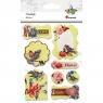 Naklejka ramki - kwiaty, ptaki (389897)