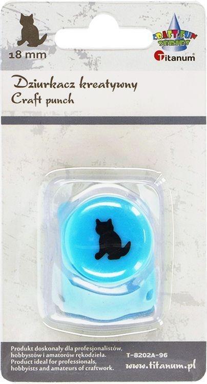 Dziurkacz Titanum Craft-fun kreatywny 18mm kot turkusowy