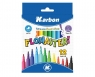 Flamastry 12 kolorów KARBON