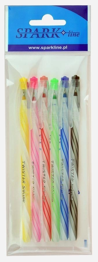 Długopis Twister 0,6mm niebieski 6szt SPARK LINE
