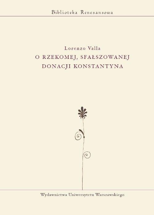 O rzekomej, sfałszowanej donacji Konstantyna Valla Lorenzo