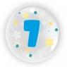 """Balon 45 cm - """"Cyfra 7"""" niebieski (TB 3607)"""