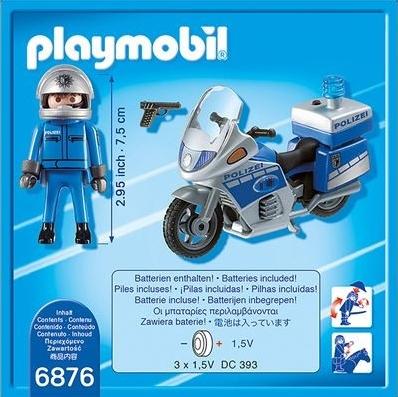 Playmobil City Action: Motor policyjny ze światłem LED (6876)