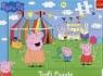 Świnka Peppa: W wesołym miasteczku - puzzle ramkowe 15 elementów (31276)
