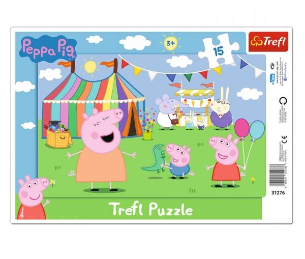 Puzzle ramkowe 15: Świnka Peppa - W wesołym miasteczku (31276)