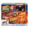Hot Wheels Monster Trucks: Ogniste starcie - Mały zestaw kaskaderski + pojazd