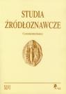 Studia Źródłoznawcze Commentationes tom  XLVI