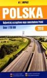 Mapa samochodowa 1:700 000 Polska 2018 BR praca zbiorowa