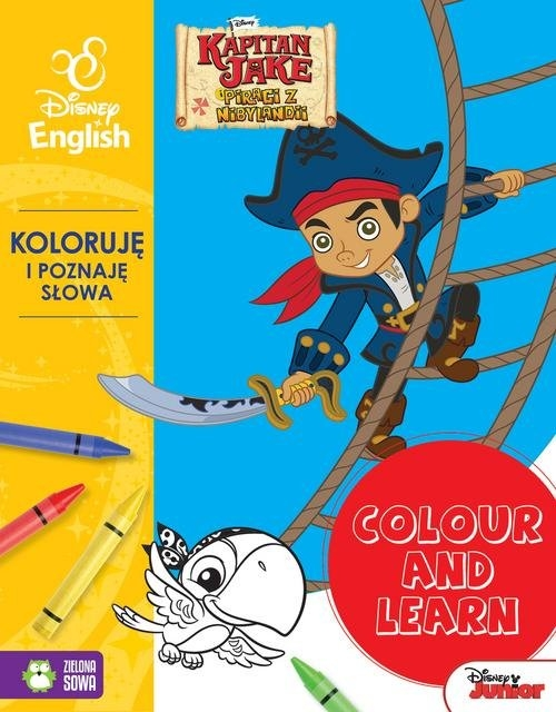 Colour and learn Jake Koloruję i poznaję słowa Disney English