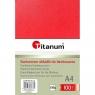 Kartonowe okładki do bindowania Titanum błyszczący, chromolux A4 - czerwony