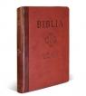 Biblia Pierwszego Kościoła kasztanowa z paginatorami i suwakiem