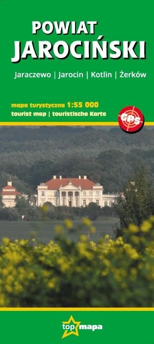 Powiat Jarociński - mapa turystyczna 1:55 000