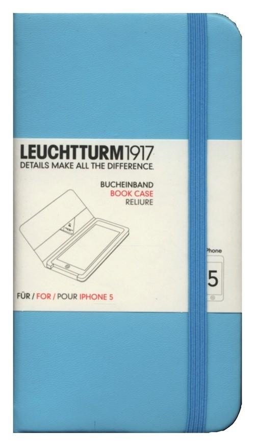Etui iPhone 5 Leuchtturm1917 turkusowe