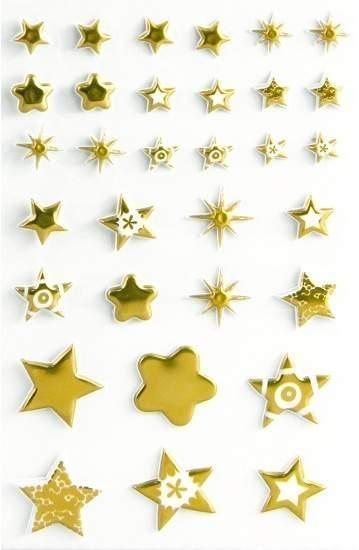 Naklejki 3D Złote gwiazdki