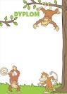 Dyplomy dziecięce Małpki