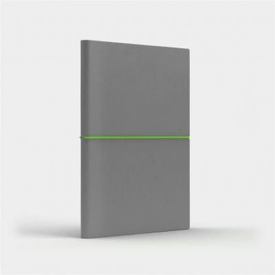 Notatnik A5 Fun M kropki jasnoszary/jasnozielony