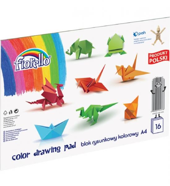 Blok rysunkowy Fiorello A4/16k - kolorowy (437301)