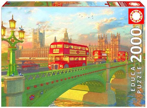 Puzzle Autobus na Westminster Bridge, Londyn 2000 elementów (16777)