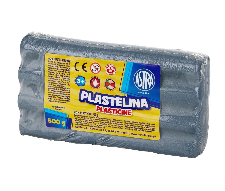 Plastelina metaliczna Astra 500 g srebrna (303117015)