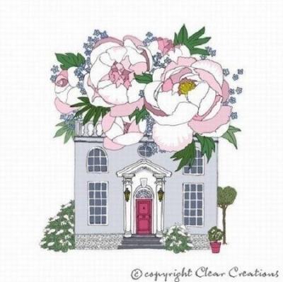 Karnet Swarovski kwadrat CL2402 Dom z kwiatami